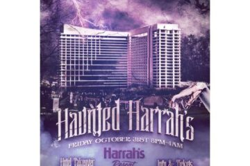haunted harrahs halloween party bus locations pickup info discount hotel dj event info