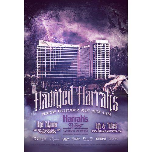 haunted harrahs halloween party bus locations pickup info discount hotel dj event info
