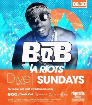 Dive Day Club BOB La Riots Promo Code Harrahs