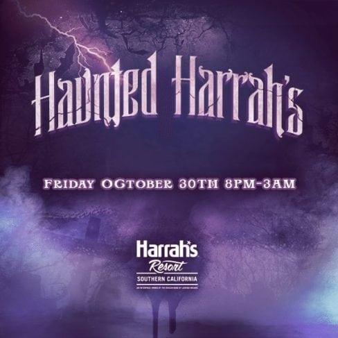 Haunted Harrahs Halloween Promo Code Tickets Buses Hotel Table
