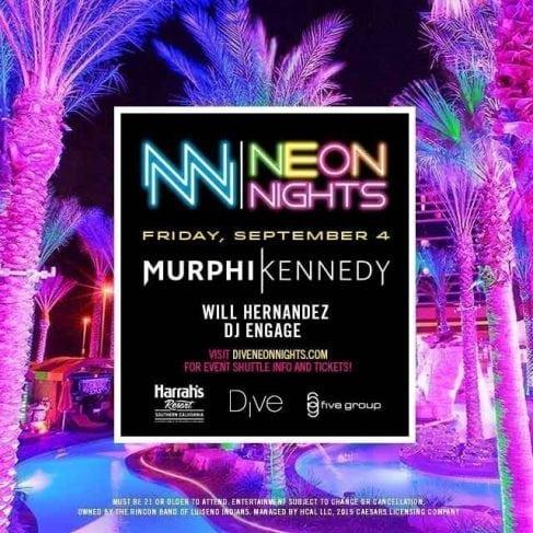Neon Night Harrahs San Diego Club Yacht Promo Code murphy kennedy will hernandez dj engage