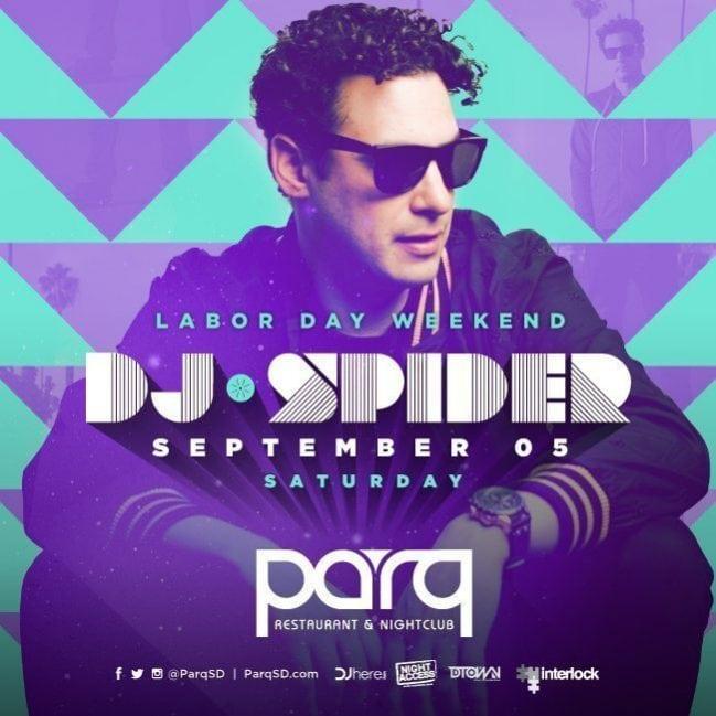 DJ Spider Parq Promo Code Discount Tickets San Diego