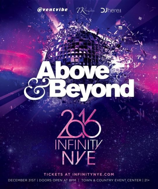 ABOVE & BEYOND NYE 2016 ticket discount promo code
