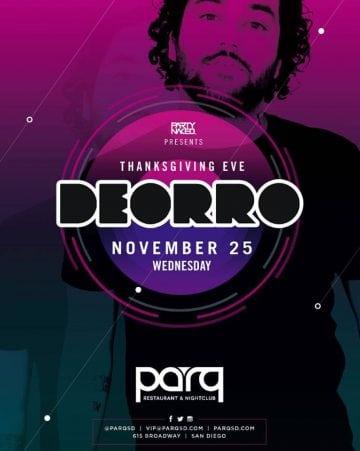 Parq Night Club DEORRO Tickets DISCOUNT PROMO CODE