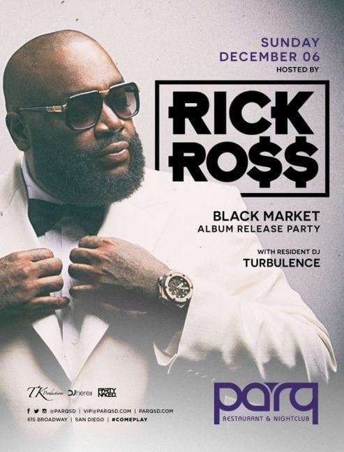 Parq Night Club Rick Ross Tickets DISCOUNT PROMO CODE