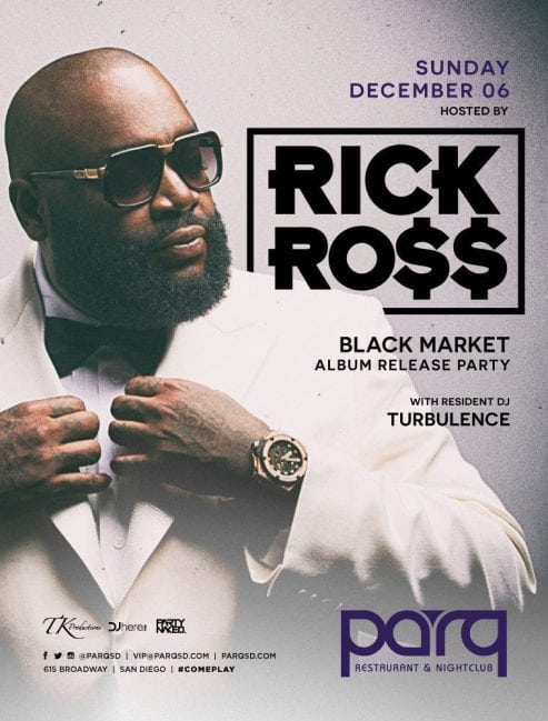 Rick Ross Parq Night Club Discount Promo Code Tickets