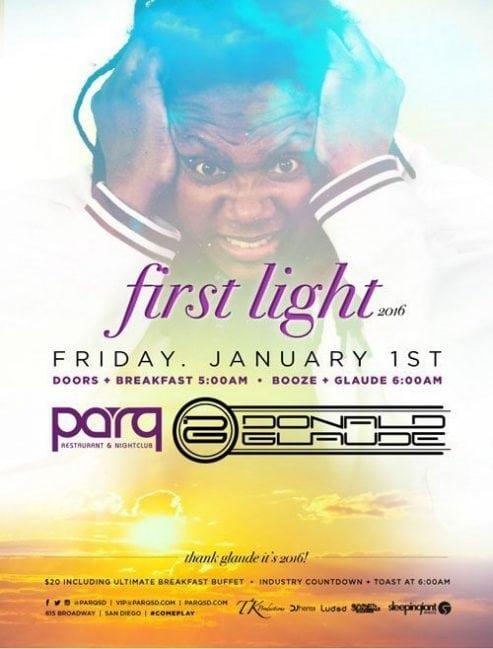Parq Donald Glaude NYE Day Light Discount Promo Code