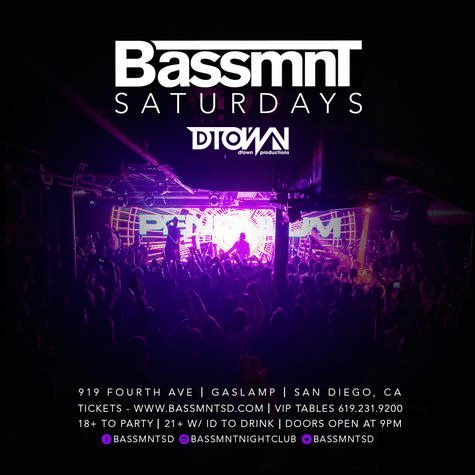 Bassmnt Club 18 up Discount Promo Code San Diego