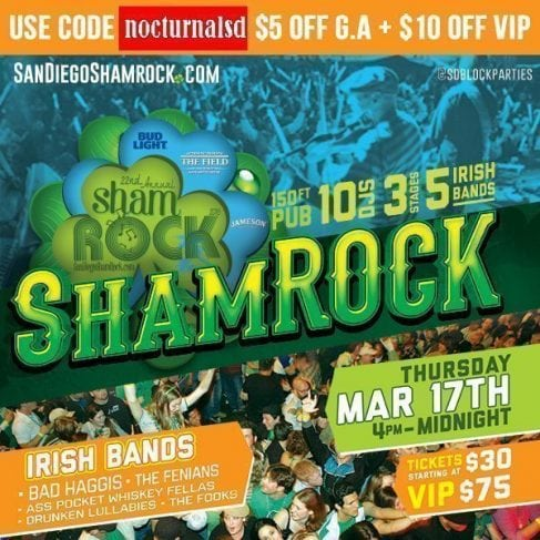 shamrock san diego downtown gaslamp party event coupon