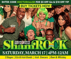 shamrock san diego gaslamp 2018 st patricks day downtown promotional code tickets passes vip parking guest list