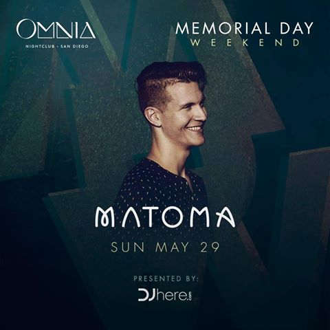 OMNIA SAN DIEGO MANTOMA MEMORIAL DAY Tickets discount promo code 2016