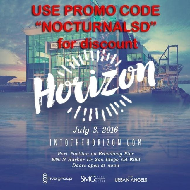 Horizon City San Diego Discount Promo Code Tickets event port pavilion broadway pier july 3rd