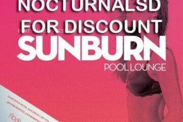 Sunburn Pool Party Hardrock San Diego Tickets Promo Code Discount vip bottle cabana day bed bus hard rock