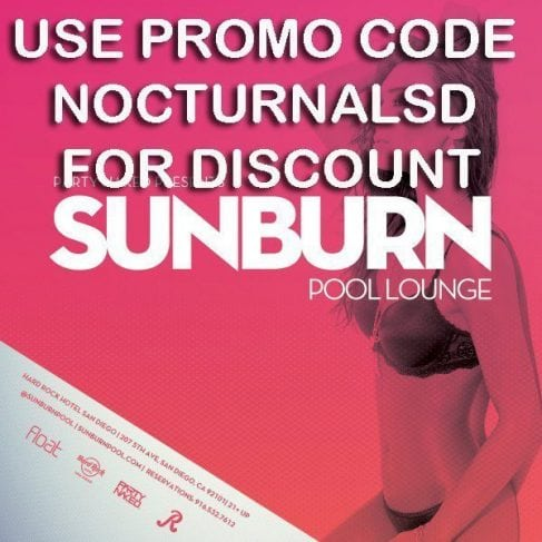 Sunburn Pool Party Hardrock San Diego Tickets Promo Code Discount vip bottle cabana day bed bus hard rock