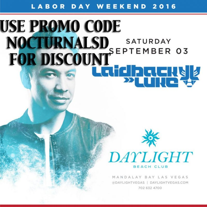 DayLight Las Vegas LABOR DAY 2016 LAIDBACK LUKE Tickets Discount PROMO CODE Mandalay Bay Beach Club