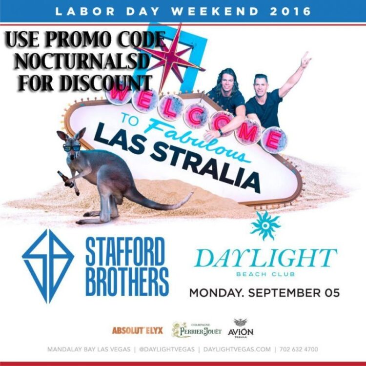 DayLight Las Vegas LABOR DAY 2016 STAFFORD BROTHERS Tickets Discount PROMO CODE Mandalay Bay copy pool party night club light
