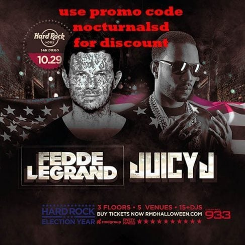 Hard Rock Hotel Halloween 2016 promo code discount tickets fedde legrand juicy j vip