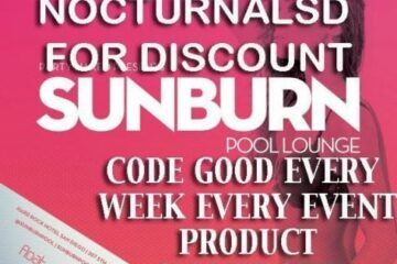 Hard Rock SUNBURN POOL PARTY San Diego TICKET PROMO CODE cabana day bed vip guest list 207 float