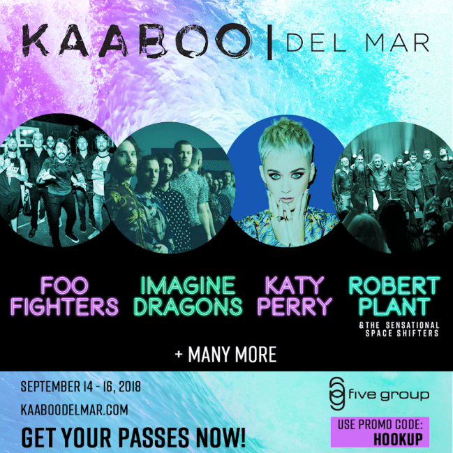 Kaaboo Festival Tickets San Diego 2018 Del Mar PROMO CODE discount pass hang loose, hang five, gang ten, vip, ultimate