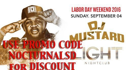 Light LABOR DAY 2016 DJ MUSTARD Tickets PROMO CODE Mandalay Bay Discount Las Vegas