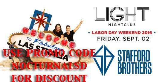Light LABOR DAY 2016 STAFFORD BROTHERS Tickets PROMO CODE Mandalay Bay Discount vip las vegas night club