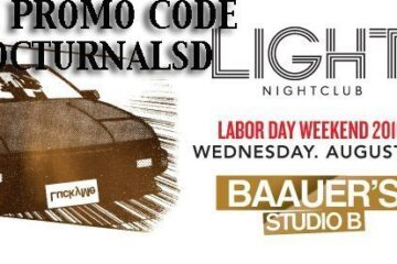 Light Las Vegas BAAUER'S STUDIO B LABOR DAY 2016 Tickets Discount PROMO CODE Mandalay Bay night club for sale