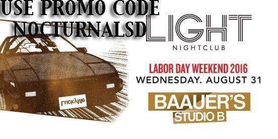 Light Las Vegas BAAUER'S STUDIO B LABOR DAY 2016 Tickets Discount PROMO CODE Mandalay Bay night club for sale