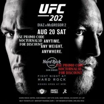 UFC FIGHT 202 HARD ROCK TICKETS DISCOUNT PROMO CODE SAN DIEGO diaz vs mcgregor 2 downtown gaslamp hotel