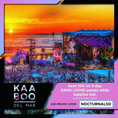 kaaboo 2017 del mar tickets passes hang loose 1 day 2 day 3 day discount promo code sale deal vip race track fair grounds san diego