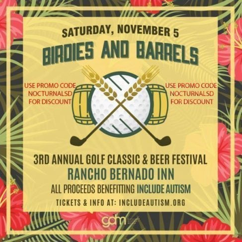 Birdies Barrels Gold Classic Beer Festival Tickets Discount Promo Code RB Inn San Diego Autism golf tournament Rancho bernardo