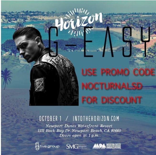 G Easy Newport Dunes Horizon TICKETS DISCOUNT PROMO CODE brklyn cabana beach vip bus transportation