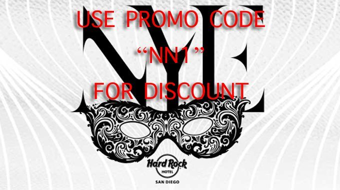 Hardrock San Diego NYE 2017 Tickets DISCOUNT PROMO CODE hotel epic package