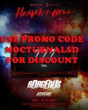 Heaven Hell Halloween 2016 Tickets DISCOUNT Borgeous Apashe san diego town and country mission valley