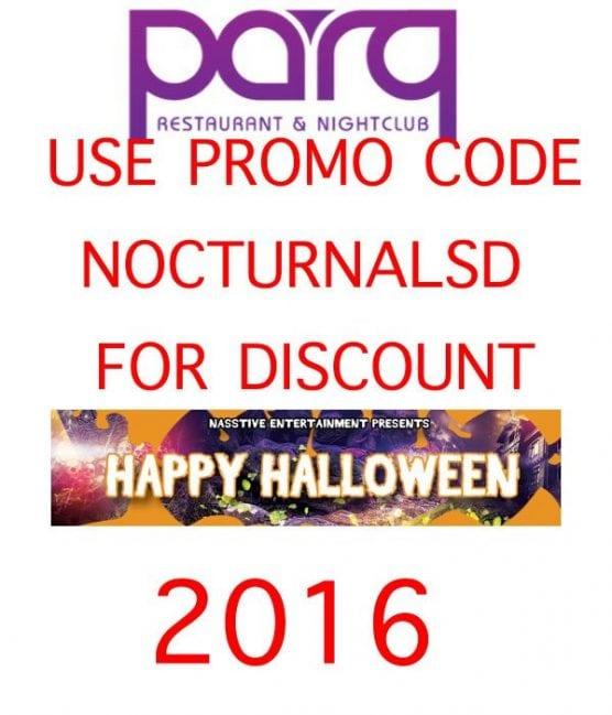 Parq Halloween 2016 Tickets DISCOUNT PROMO CODE San Diego