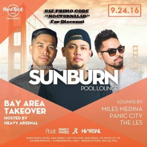 Sunburn Pool Hard Rock San Diego Ticket DISCOUNT Promo code pool party cabana day bed