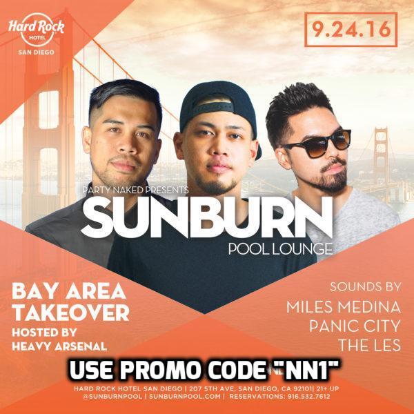 Sunburn Pool Party Finale TICKET PROMO CODE San Diego Hardrock Hotel float 207 event saturdays gaslmap