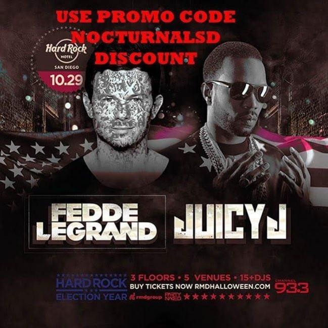 Hard Rock Election Year Halloween Promo Codes 2016 Purge San Diego vip hotel bottle table discount