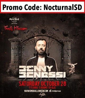 hard rock halloween san diego 2017 tickets discount promo code benny benassi entry admission bottle table hip hop urban