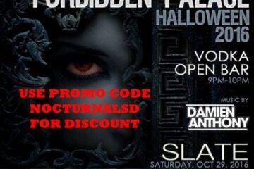 slate ny night club halloween forbidden palace 2016 vip table bottle