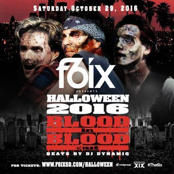 F6ix Halloween 2016 Tickets Promotional Code San Diego Blood vip guest list package