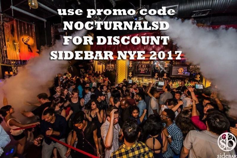 Side Bar NYE 2017 Tickets DISCOUNT PROMO CODE San Diego, new year eve, vip table bottle service, guest list, vip tickets, night club, gaslamp downtown event