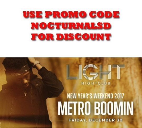 Light NightClub NYE 2017 Weekend Metro Boomin Ticket Discount Promo Code, Mandalay Bay Las Vegas, Daylight, Vip, Bottle Service Table, Hotel Package Pricing