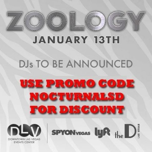 ZOOLOGY Las Vegas 2017 Ticket DISCOUNT PROMO CODES Event, vip bottles tables pricing, things to do in nevada las vegas January 2017