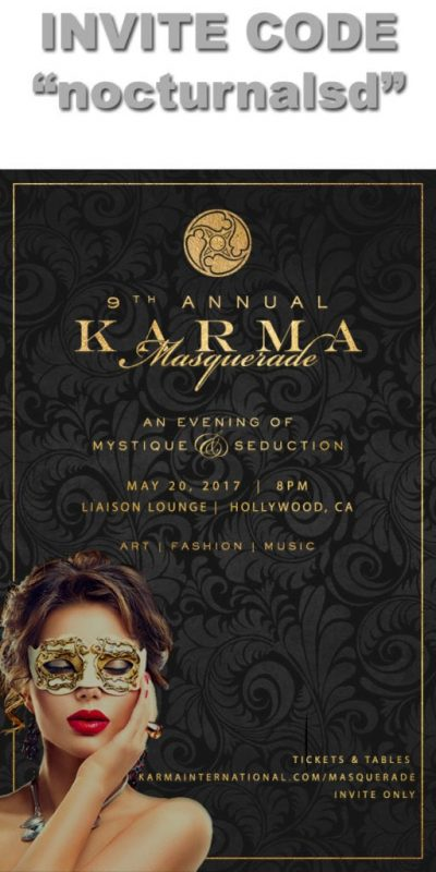 Karma International Masquerade 2017 tickets invitation code hollywood liaison lounge