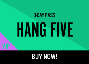 Kaaboo Passes for sale Hang Five
