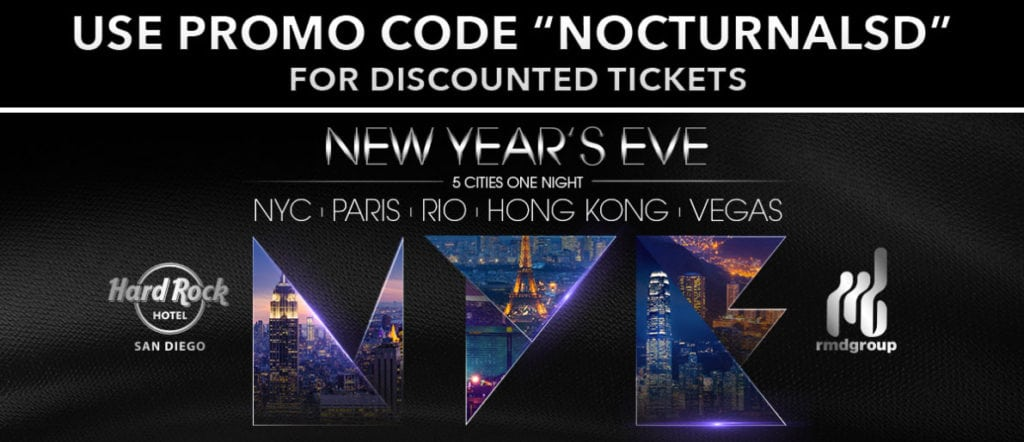 Hardrock NYE 2018 Tickets Discount Promo Code San Diego