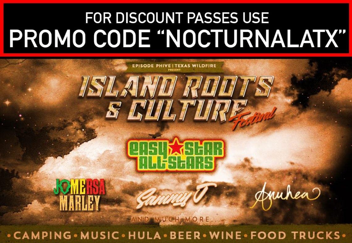 ISLAND ROOTS & CULTURE FESTIVAL 2017 DISCOUNT PROMO CODE PASSES SAN ANTONIO