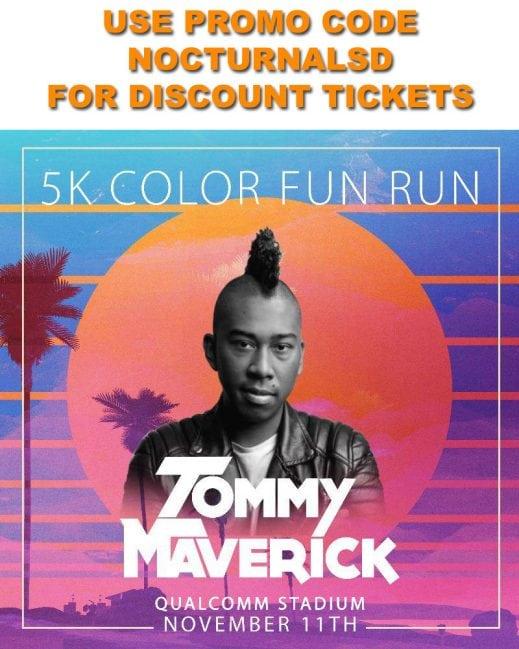 5k Color Fun Run Tickets Discount Promo Code San Diego Nov 11th 2017 EDM REGISTRATION 4 PAC