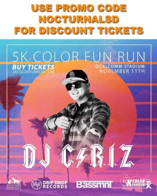 5k color fun run edm music bassmnt tickets guest list vip 4 pack MARATHON TRI IRON MAN SPARTAN RUN DAY NIGHT CLUB
