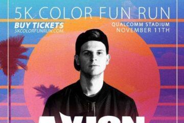 5k color fun run music festival qualcomm stadium november 11th 2017 LINEUP, EDM FESTIVAL MARATHON FITNESS